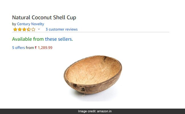 Amazon is selling coconut shells for over Rs 1,200 and Indians are stunned https://t.co/aSq3H4tcaQ