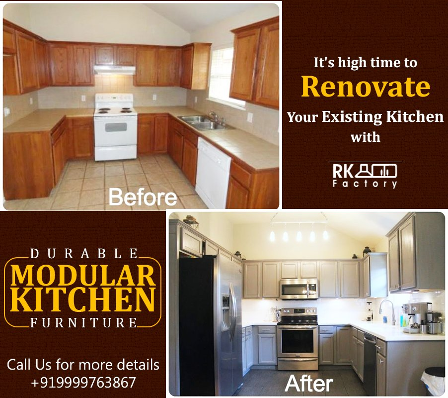 Decorate or renovate your #kitchen space with @RK_Factory modular #furniture!  #Durable Furniture #Attractive in Design #Reasonable Rate Connect with us now to avail our modular kitchen services! Know More:- http://royalkitchenfactory.info  ☎ +91 9999763867