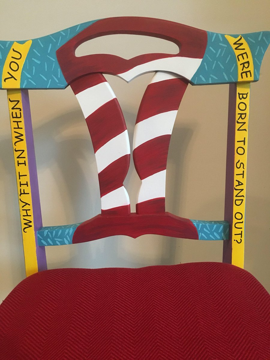 From my #etsy shop: Dr Seuss Chair, Custom order, Home or classroom. #furniture #handpainted #classroom https://etsy.me/2QTQnl7  ⁦@DrSeussArtIndy⁩ ⁦@KCANominees⁩ ⁦@PBSKIDS⁩ ⁦@MarthaStewart⁩ ⁦@HomeDecorNews⁩