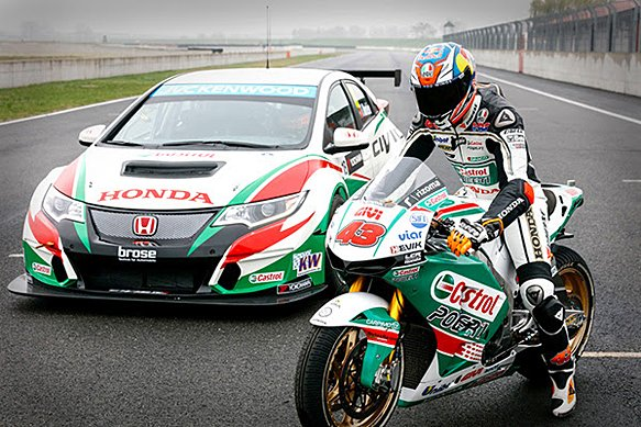 Castrol event; when the 4W meets the 2W  #castrol #honda #hondaracing <br>http://pic.twitter.com/pXfXnUPGJW