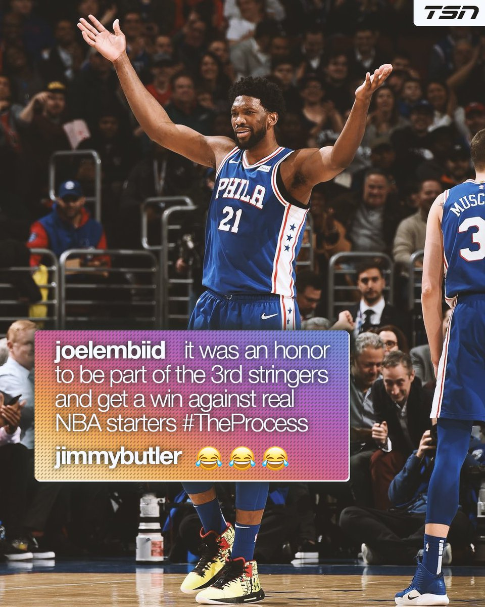 Joel Embiid jokes about Jimmy Butler's infamous scrimmage when he was on the T-Wolves 😅