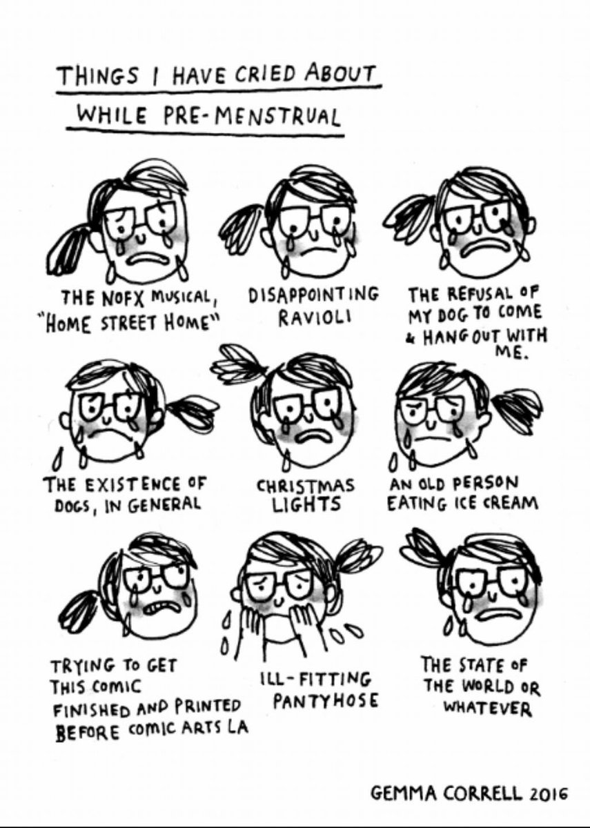 Things I have cried about while #premenstrual thanks to @gemmacorrell.  When the seemingly insignificant becomes overwhelming #pms #pmdd  #mentalhealth #womenshealth #funnynotfunny