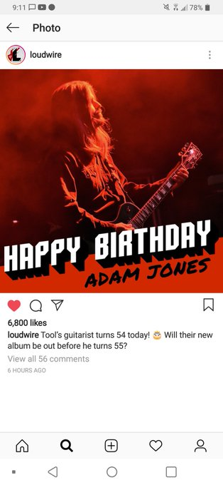 Usually don\t look at message like I use to. On fbook. Im a fbook slut I guess. Lol Happy Birthday Adam Jones.