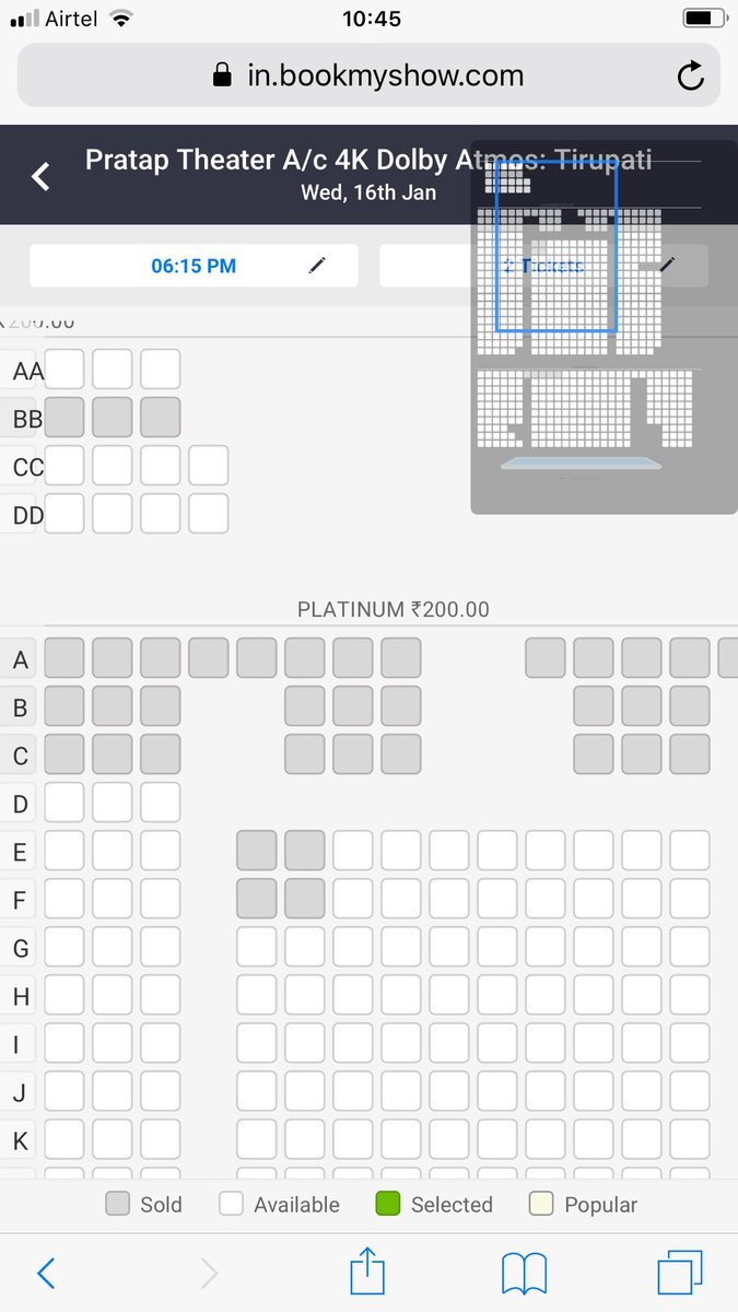 Ceeded main centre ayina #Tirupathi lo #VVR today's Status idhi.. Not even a single show has 20% occupancy also (5 Theatres Including padma ) .. Where as #F2 all shows r sold out  (4 theatres) .. <br>http://pic.twitter.com/YDMU7r2t7Q