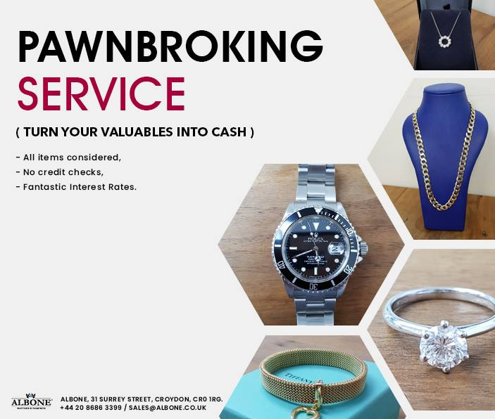 Pawnbroking Serive (Turn your valuables into cash) All items Considered / No Credit Checks / Fantastic interest Rates  #Pawnbroking #Service #Rolex #watchfam #london  #crystal #fashion #style #luxury #wristwatch  #albone #shoponline #impressive #condition #guarantee