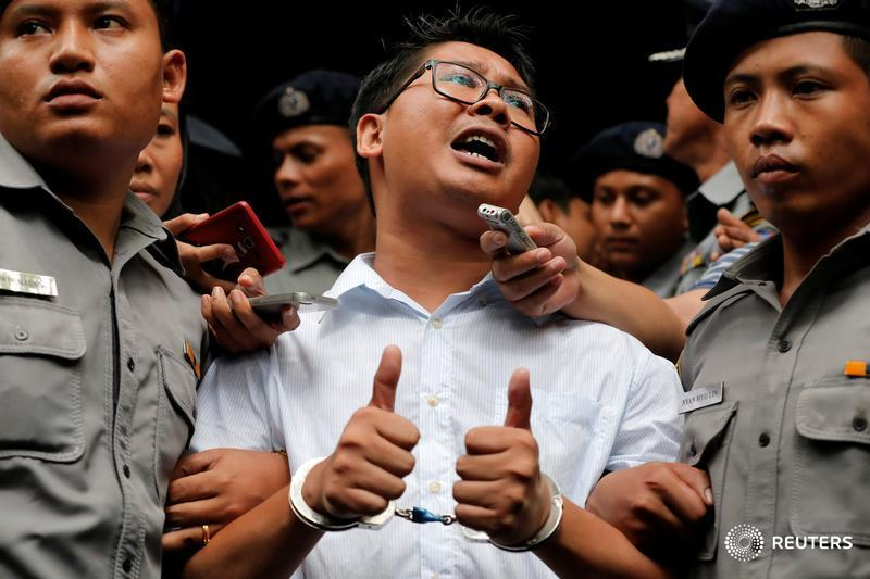 Two @Reuters journalists have been imprisoned in Myanmar since Dec. 12, 2017. See our full coverage: https://reut.rs/2FAHURz