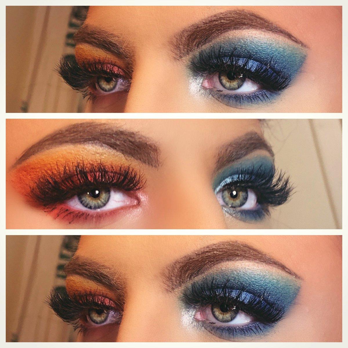 Fire & Ice 🔥❄️ @jamescharles  #makeupartist #jamescharlespalette