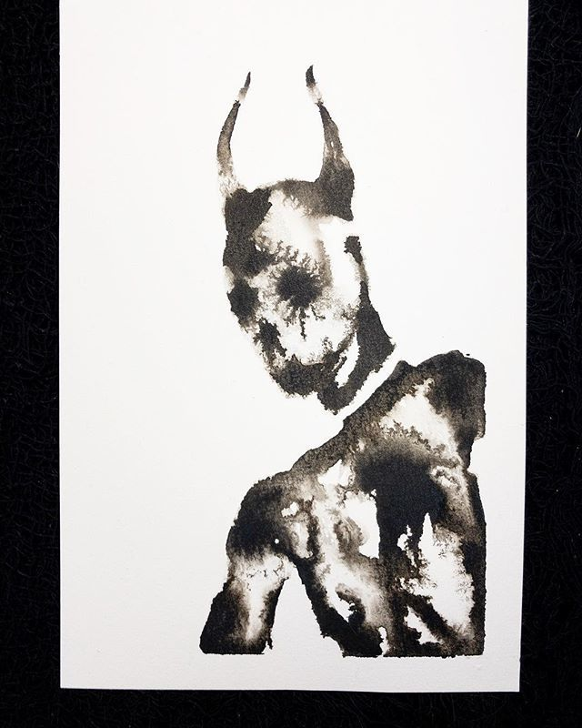 Detached. 🕯🕸🌙💀🌙🕸🕯 #art #darkart #ink #inkdrawings #shade #skull #horns #thirdeye #undead #illustration #draw #brush #water #makearteveryday #instaart http://bit.ly/2CqTOds