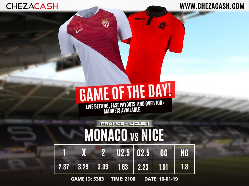 ⚽️ MATCHDAY   Both teams have won 2 games each in the last 5 h2h matches across all venues. All 5 of those matches had over 2.5 goals in total at the full time. Make your prediction ❗   📲 Bet Football 👉 http://bit.ly/2Fs8xc6   #TwendeGame #Ligue1
