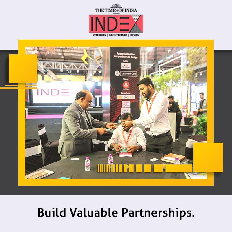 Tradeshows provide an opportunity for attendees to network with each other. Often, a conversation with other visitors at #IndexTradefairs might lead to new ideas or a valuable partnership. Register for this and more: https://buff.ly/2BX33C8  #interiordesigner #architect #furniture