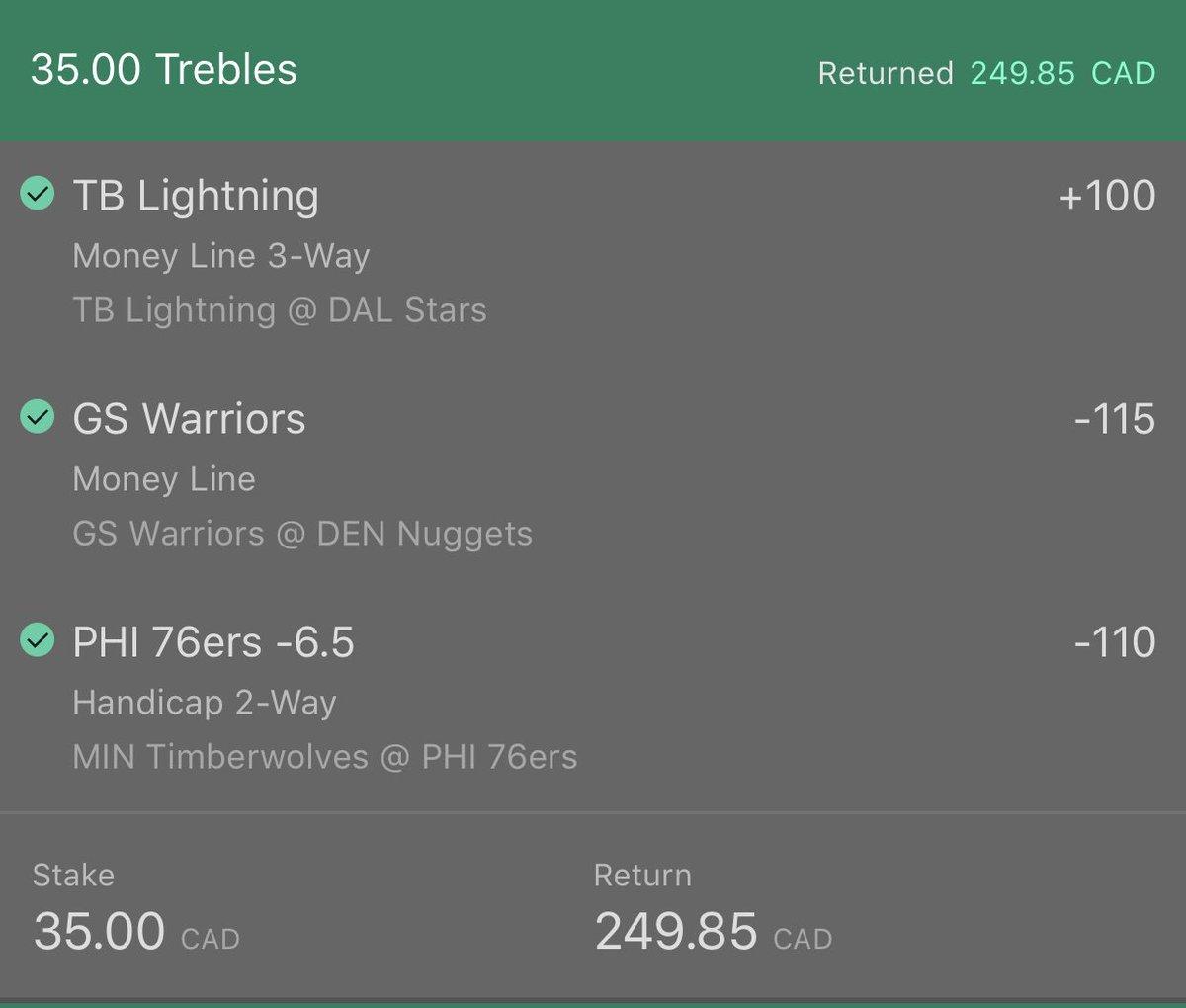 🔥🔥💵 a winning day is a good day 🔼$249   #NBA #NHL #GamblingTwitter #bettingtips #CBB #NFL