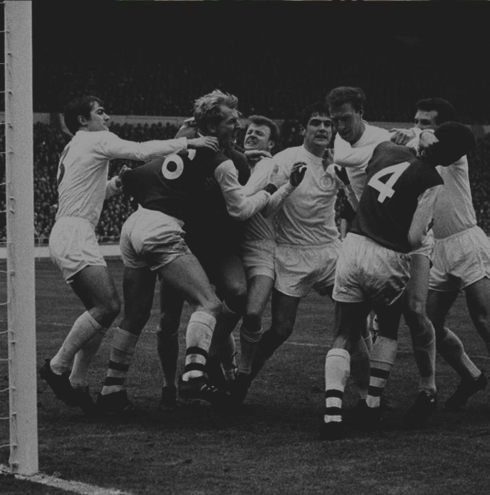 Leeds Utd involved in an old-fashionedfootball brawl. . . . #fight #brawl #Leeds #blackandwhite #oldschool #England