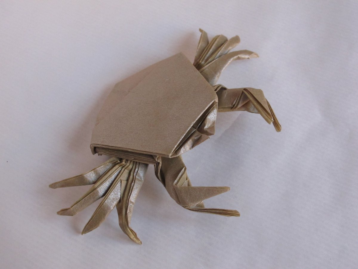 Step-by-step Simple Origami Crab Free Tutorial Download | 900x1200