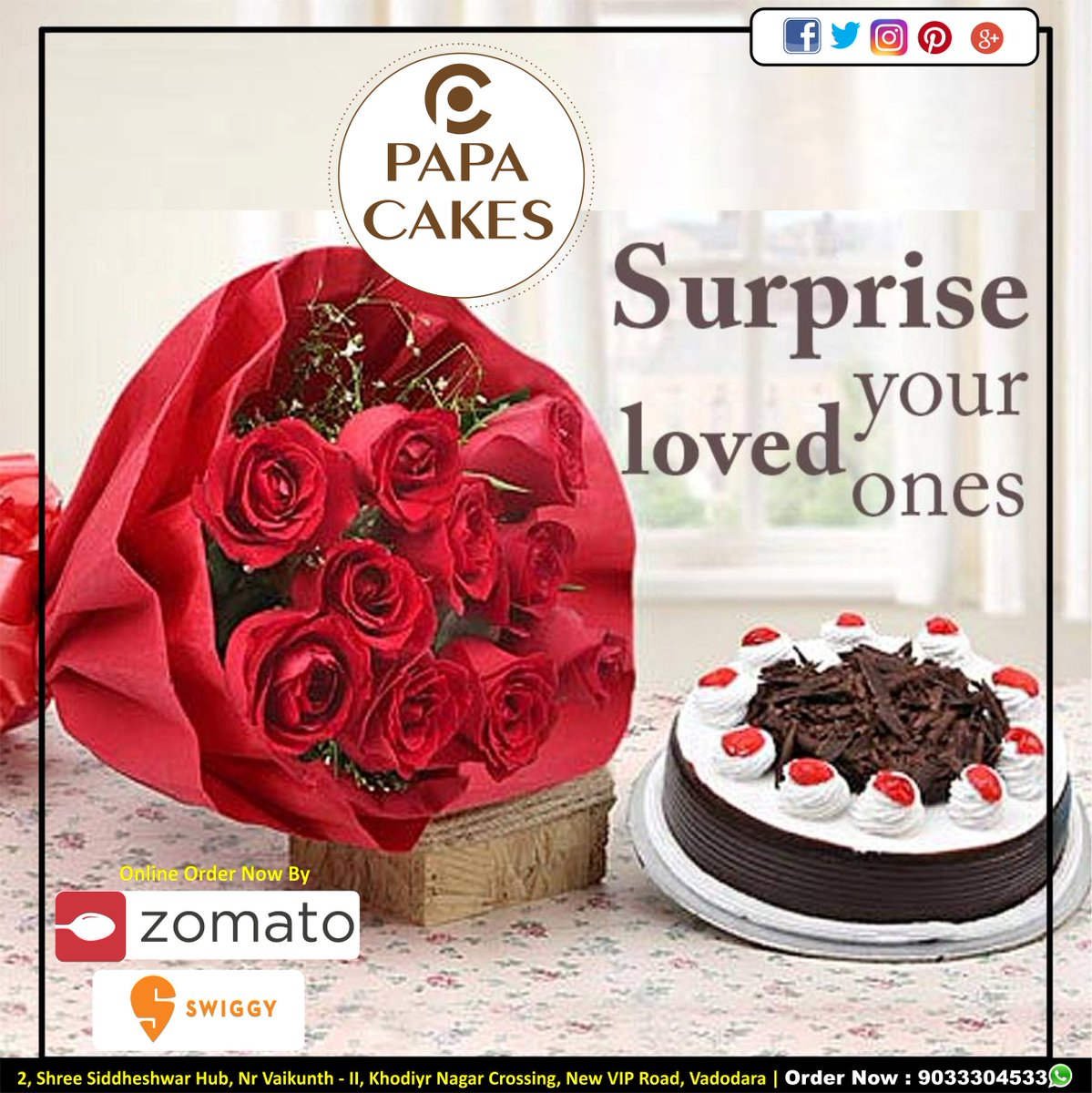 Promote Adda India On Twitter Combo Offer Cake With Flower