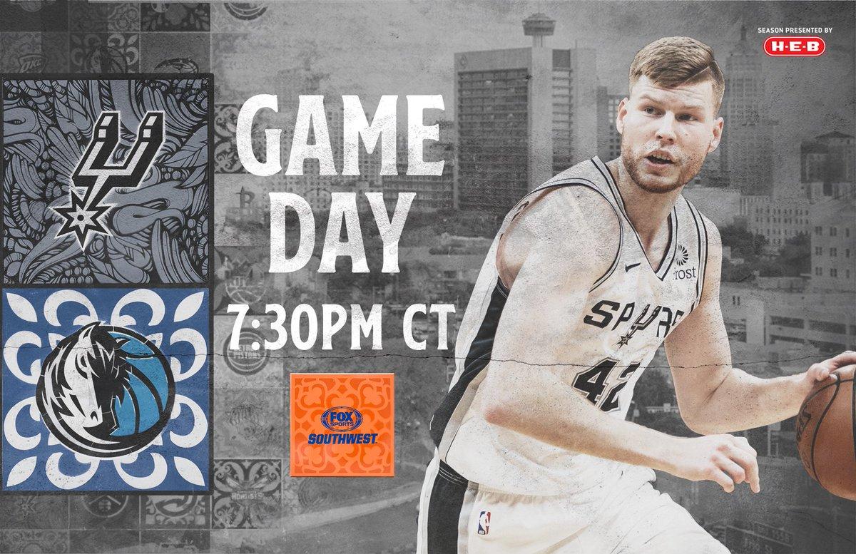 It&#39;s GAMEDAY in Dallas tonight on @FOXSportsSW!  #GoSpursGo <br>http://pic.twitter.com/nu327GLTDe