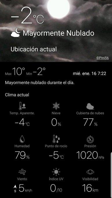 #BuenMiercoles #Avila 🌤 Intervalos Nubosos las Nubes irán aumentando a lo largo del día 🔵 Minima y actual: °C ❄ Sensacion: -4°C ➡️ Mañana en principio veremos nevar pero dudo mucho que cuaje Foto