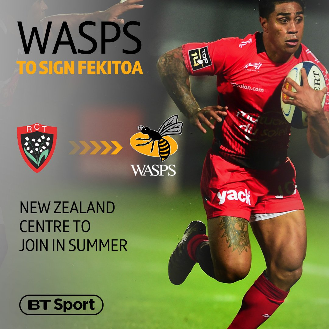 """test Twitter Media - Incoming! 🙌  Wasps will sign New Zealand's 2015 World Cup winner Malakai Fekitoa this summer 🐝  🗣 """"Hopefully I can help them push forward and achieve silverware in the next few years."""" https://t.co/cfnPxU4BeV"""