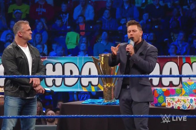 Happy birthday to \Shane McMahon\ on Miz TV 15 January 2019