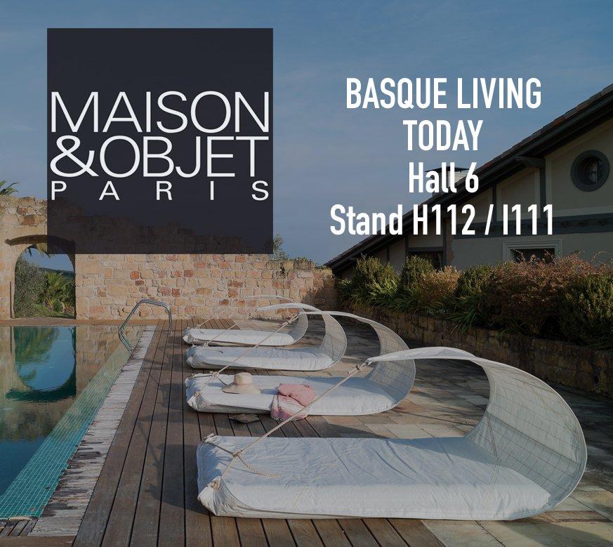 Waiting for you at MAISON&OBJET in BASQUE LIVING TODAY Hall 6 — Stand H112 / I111 Paris – January 18-22, 2019  #design #mobilier #furniture #parisdesignweek #maisonobjetparis