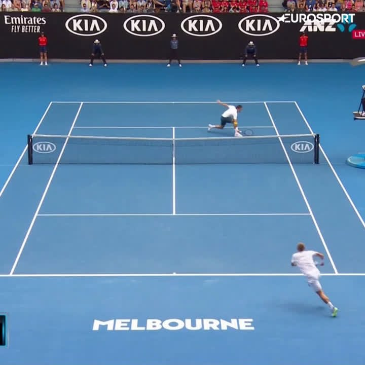 RT @BritishTennis: 👍 Not a bad highlights reel from Dan Evans and @rogerfederer at the #AusOpen!  📽️ @Eurosport_UK https://t.co/F1eUMQdGQA