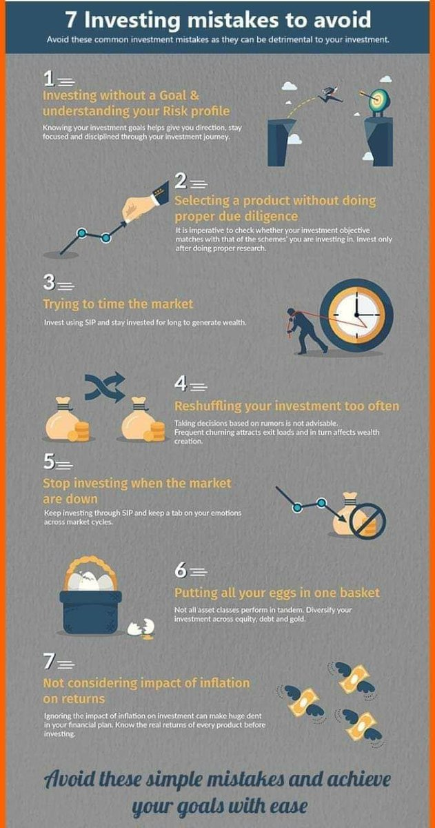 7 Investing mistakes to avoid