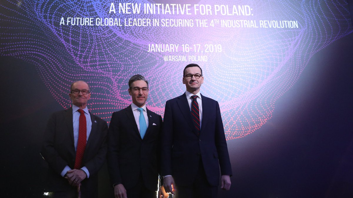 """Prime Minister @MorawieckiM participates in """"A New Initiative for Poland: A Future Global Leader in Securing the 4th Industrial Revolution"""" conference in #Warsaw."""