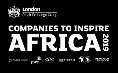 Thank you to all of our partners & sponsors for their invaluable contribution to @LSEGplc Companies to #InspireAfrica2019: @AfDB_Group   @AsokoInsight @CDCGroup @InstinctifPtnrs @PwC @Africa_Upfront @SHlegal http://bit.ly/2QOpejm