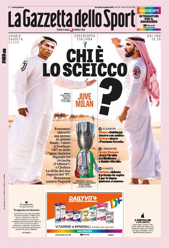 #RT @footballitalia: #Buongiorno! Your front pages for Wednesday's Italian sports papers in English: https://www.football-italia.net/node/133319?mobile=off… #Juventus #ACMilan #Supercoppa #CFC #Genoa #Lazio #FCIM #Napoli