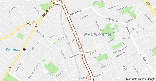 Ten fire engines and around 70 firefighters have been called to a fire at a cafe on Walworth Road in #Walworth Part of the ground floor and basement are alight. More info to follow.