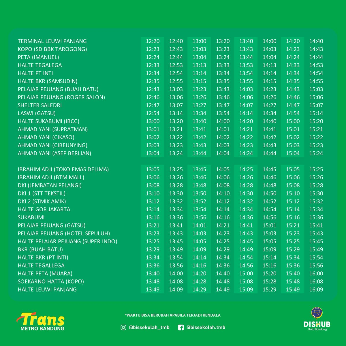 33 12 50 20 >> Radio Prfm Bandung On Twitter Via Upta Dishubbdg Mari