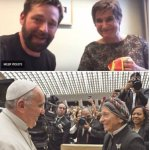 Image for the Tweet beginning: Francis has honoured two notorious