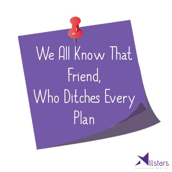 Tag that friend, who ditches everytime. #TagAFriend <br>http://pic.twitter.com/84MPEu23ud