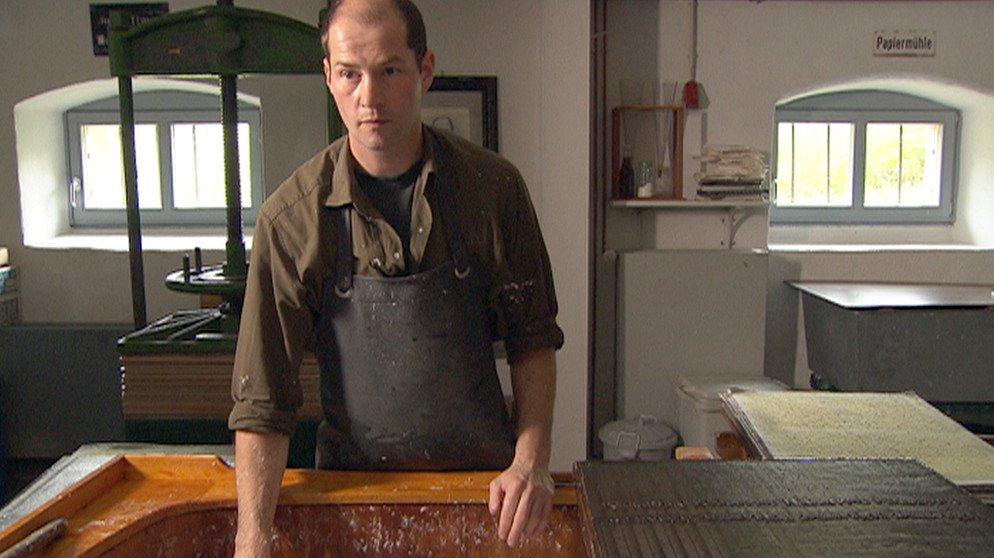 AUDIO | Triefenstein: Papiermacher Johannes Follmer und seine Papiermühle https://t.co/i3pNKSFIVd #franken