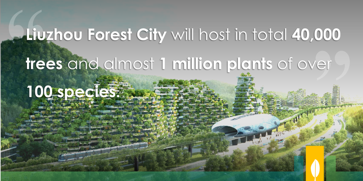 RT @CitiesWNature The construction of the world's 1st #forestcity officially started in #Liuzhou, southern #China.   It will combat #climatechange & #pollution, reduce average temperature & improve #airquality & #biodiversity.   More on @boeriarchitetti: https://t.co/u48Ek3lSPh #CitiesWithNature