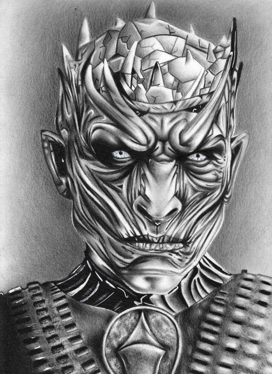 What do you think about my drawing with The Night King?  Graphite on 30x30cm paper  #Twitterトレンド大賞  #Demon #fanart #art #drawing #graphite #GameOfThrones  #RETWEEET #GameofThronesSeason8 #gameofthronesseason7 #arte #arts #staedtler #GraphiteIndia #Romania #Belgium<br>http://pic.twitter.com/TkdseqsTCu