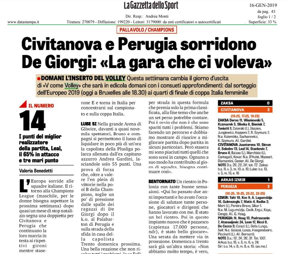 La #rassegnastampa di oggi!  🗞️Tutte le news sul mondo del #volley  👉https://t.co/0pmq34AgBz   #16gennaio #CLVolleyM
