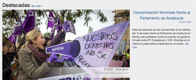 Concentración feminista frente al Parlamento de Andalucía #NiUnPasoAtrasEnIgualdad #VivasNosQueremos Foto