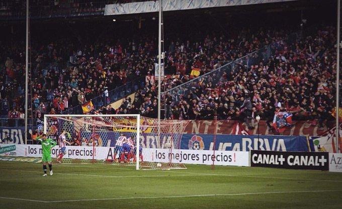 Hoy juega el Atlético De Madrid 🎶Queremos ganar la Copa, ésta hinchada está muy loca. No queremos en la grada los que se callan la boca.🎶🎵🎶 Foto