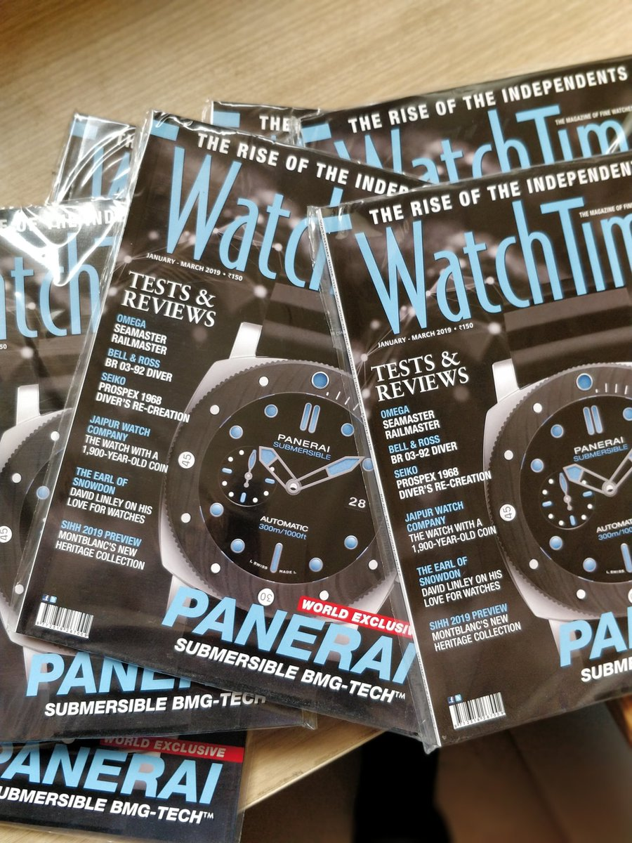 This just in!  We've sold out all our copies at the @SIHHofficial 2019 and day 3 has just started! If you're looking to get your hands on the #wtijan2019 issue, subscribe at http://www.watchtime.in/subscribe   #WatchTimeIndia #wtijan #jan2019 #sihh2019 #subscribenow #soldout