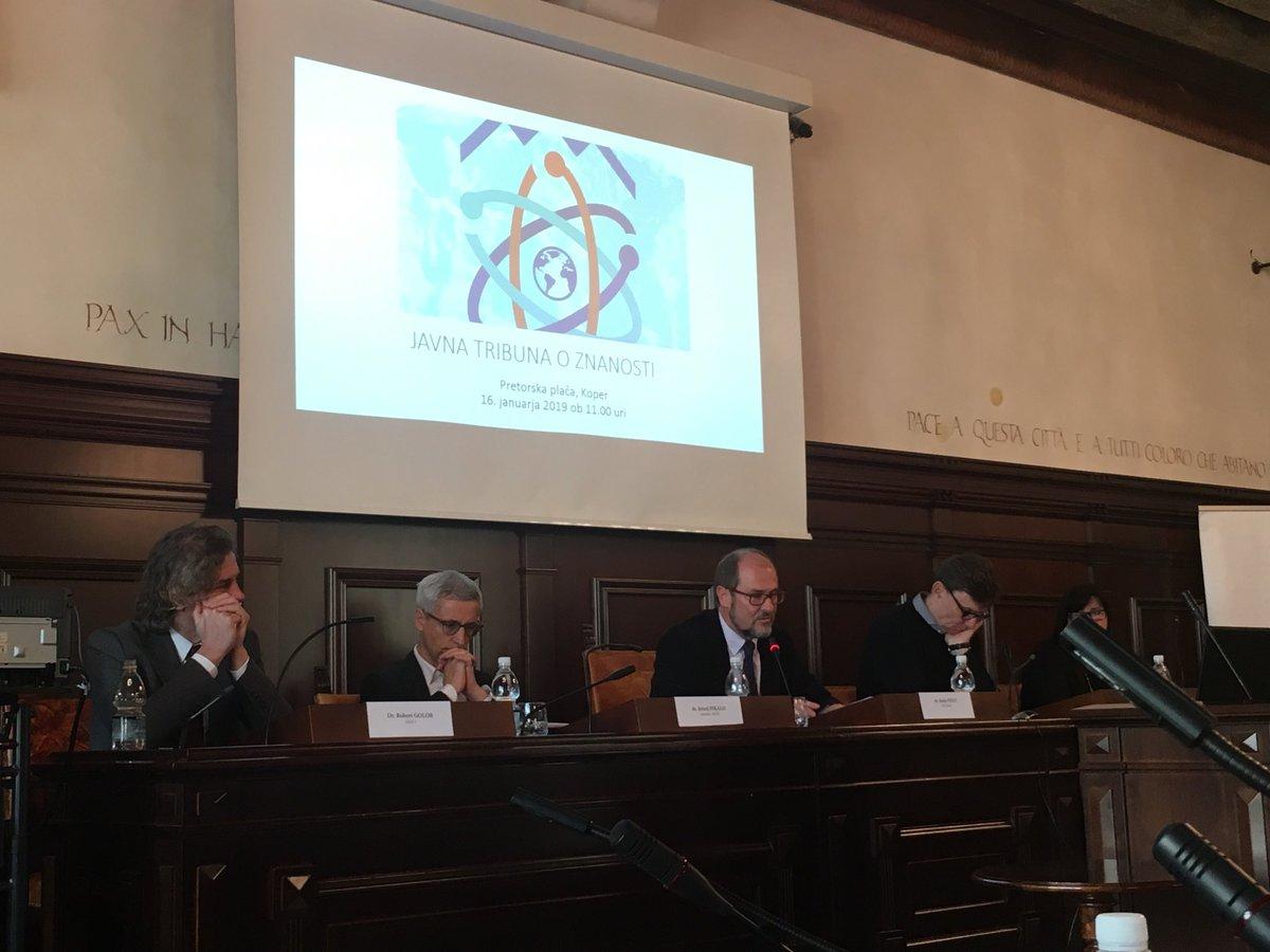 Ravnokar se je začela javna tribuna o znanosti, tokrat v Kopru. @MIZS_RS @ARRS_rfo @kemijski