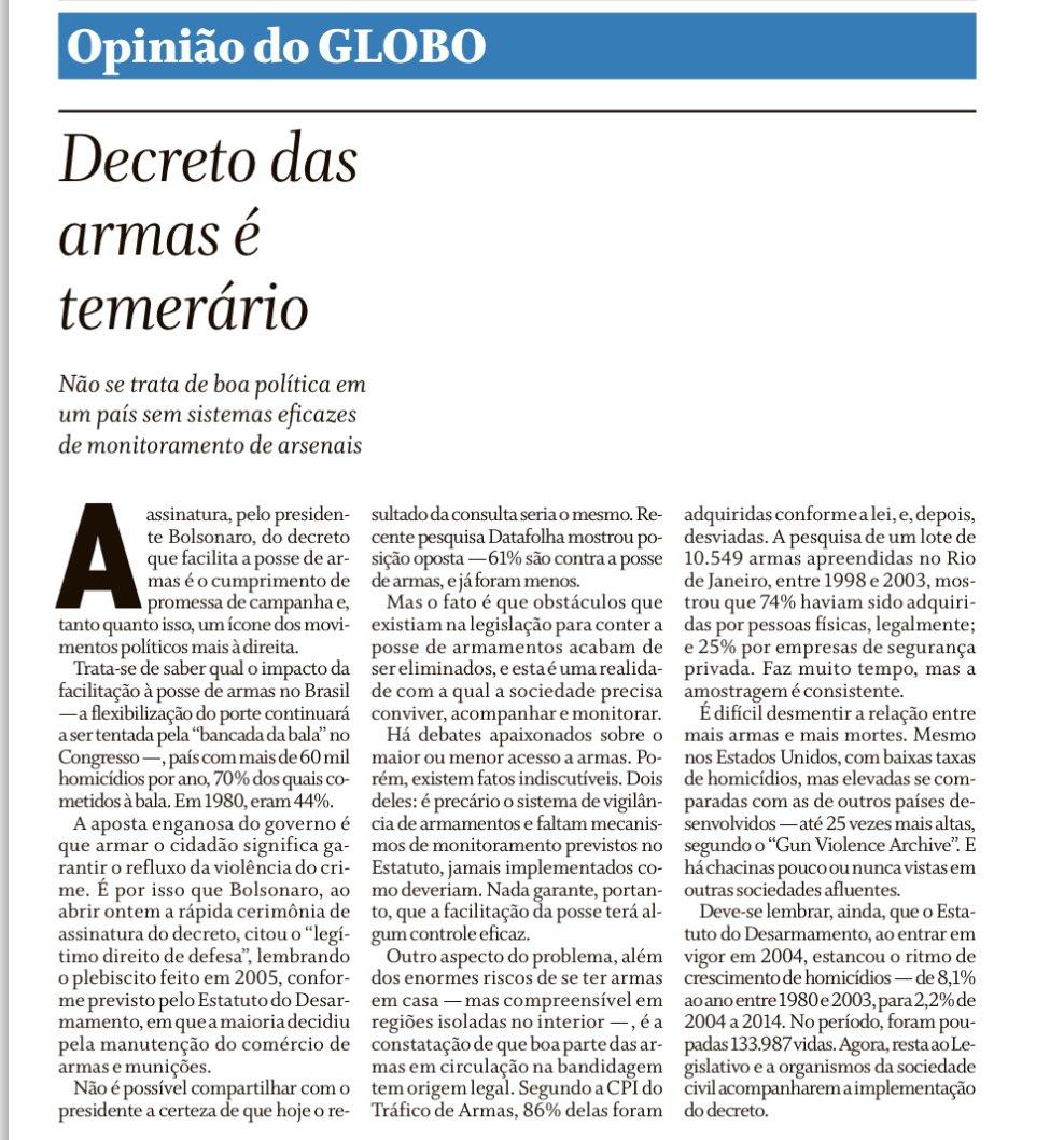 Editorial de @OGloboPolitica :