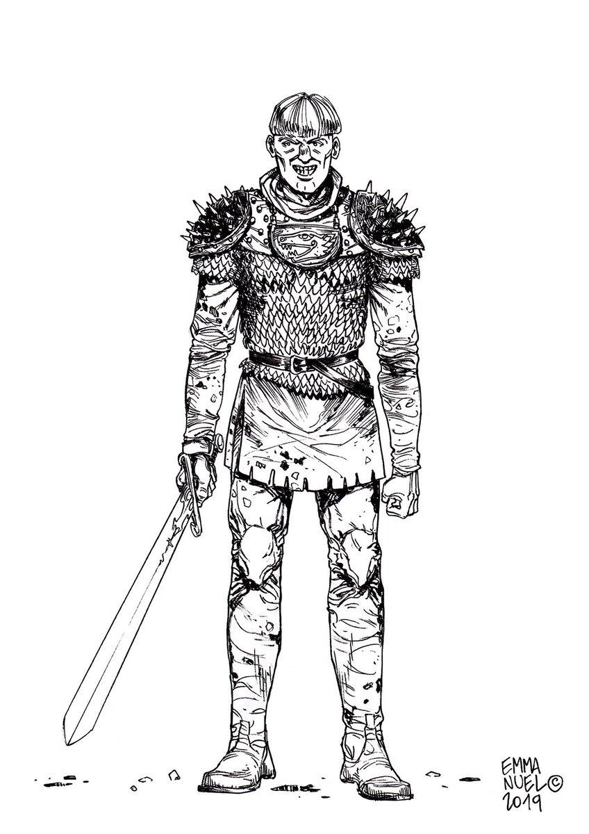 😈  Yurgen the bloodthirsty / 😈  Yurgen le Sanguinaire Si lo so, non ha l'aria molto intelligente, d'altra parte con il mestiere che fa... https://lnkd.in/gtaiuGh    mix tradi (Japanese / European pens + #digitalPainting) #medieval, #NorthernSagas, #Vikings, #Warlord, #Berserk