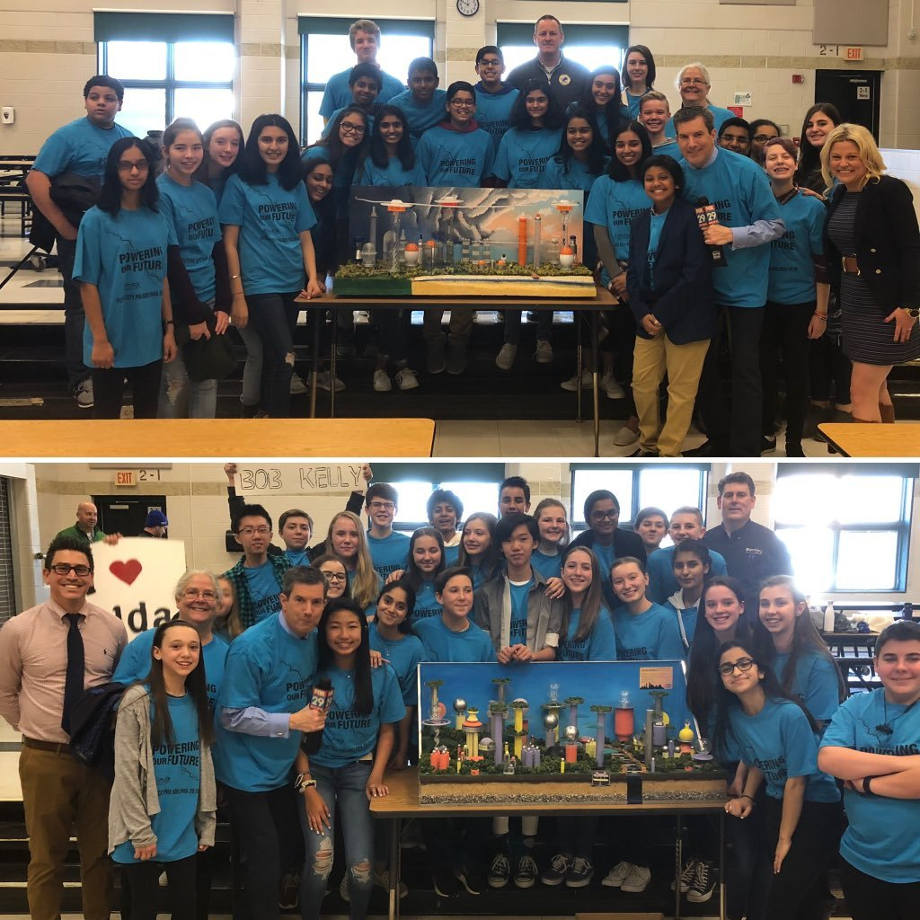 Good Luck to both Lionville & Downingtown Middle Schools in the Future Cities Competition this weekend.  They showed us their projects yesterday on  LIV#KellysClassroomE on Fox29.  Want me to come and showcase something going on at YOUR school?  Send me details.