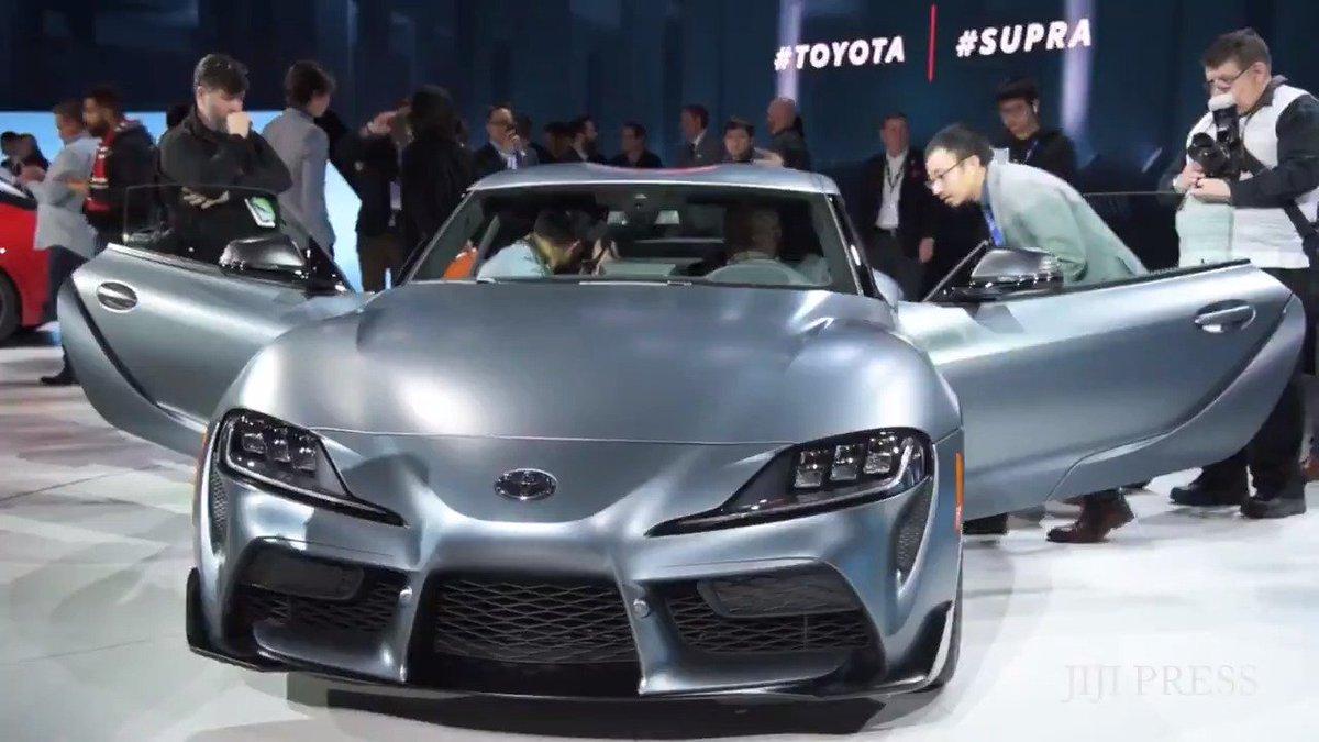デトロイトで開幕した北米国際自動車ショーで、世界初公開されたトヨタ自動車のスポーツ車・新型「スープラ」です。 #スープラ #トヨタ https://t.co/VWW5hTYVup