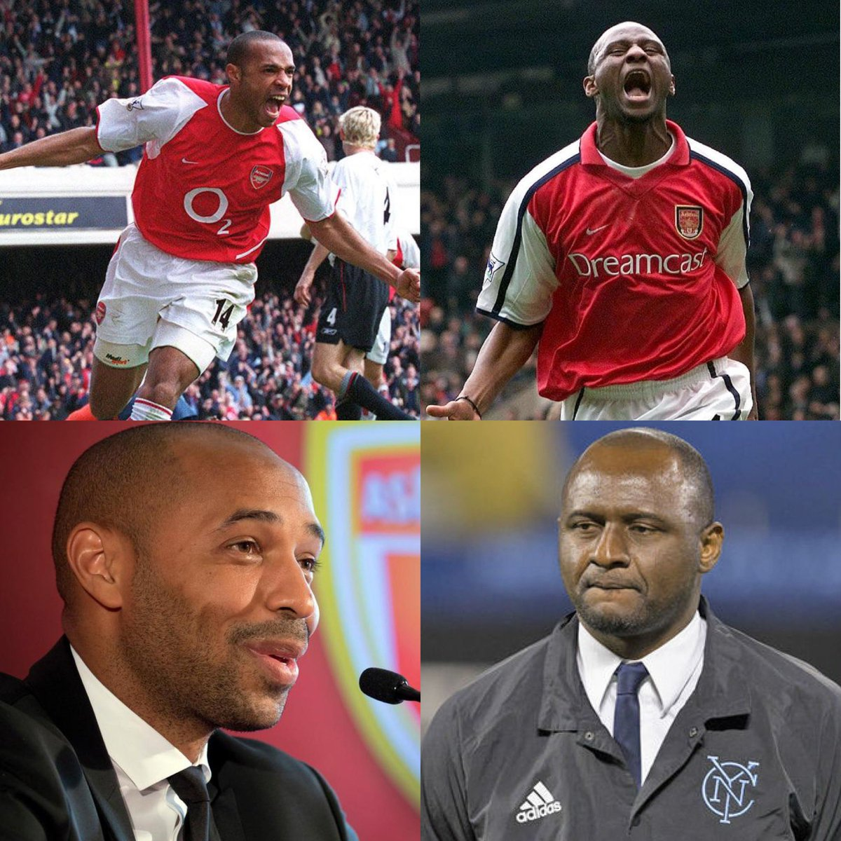 Tonight: @AS_Monaco vs @ogcnice @ThierryHenry vs @OfficialVieira 💥 Old friends become rivals 💥