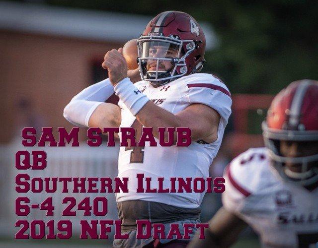 Sam 'The Cannon' Straub | 2019 NFL Draft QB Prospect | 6-4 240 | Southern Illinois | SR Highlights https://t.co/7Y30VaaLU4