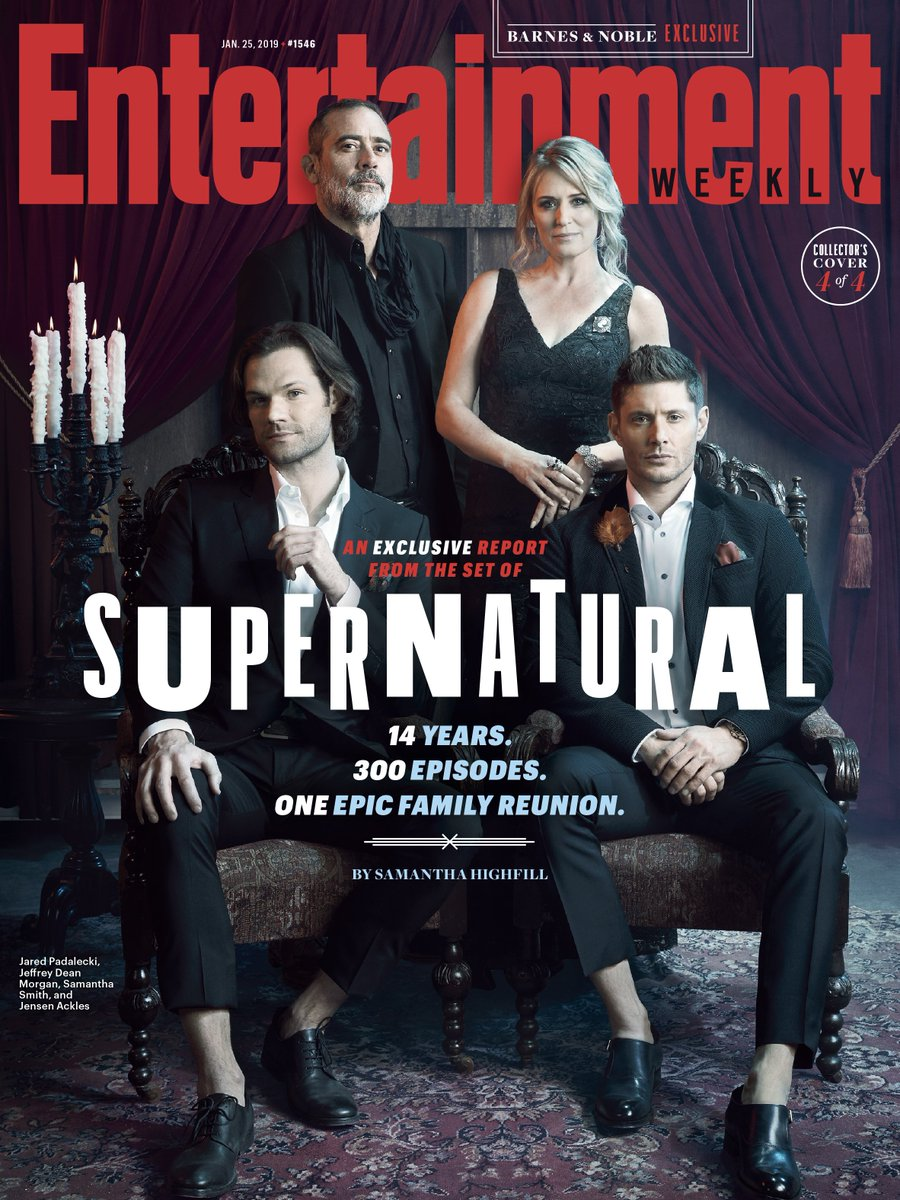 Saving people, hunting things, the family business. 👨‍👩‍👦‍👦 #Supernatural is celebrating its 300th episode with an epic Winchester family reunion! See our exclusive report from the @cw_spn set for all the details: https://t.co/70Dq9ROm7u