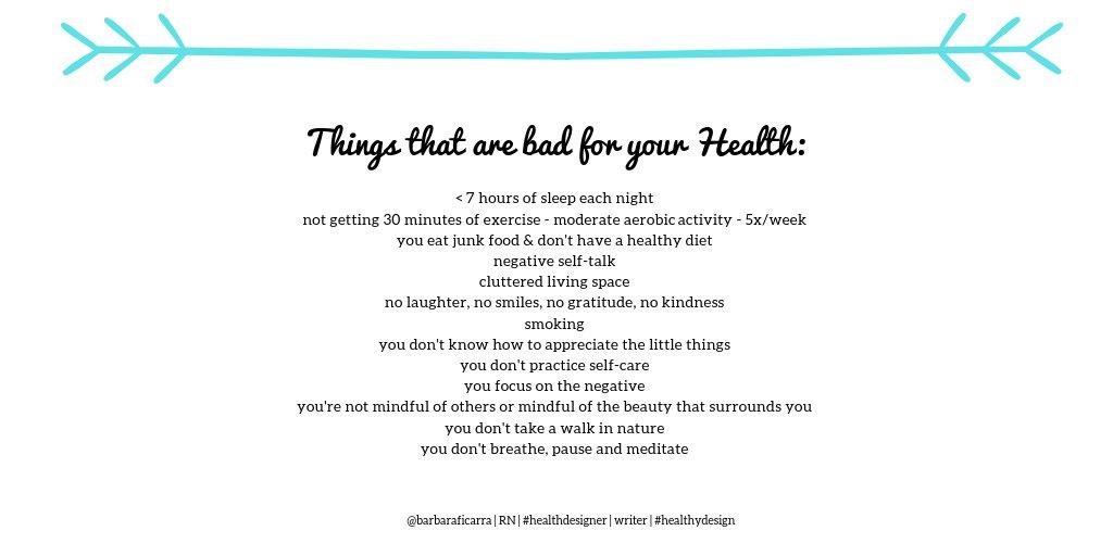 #ThingsThatAreBadForYourHealth  A lot...  --- #health #wellness