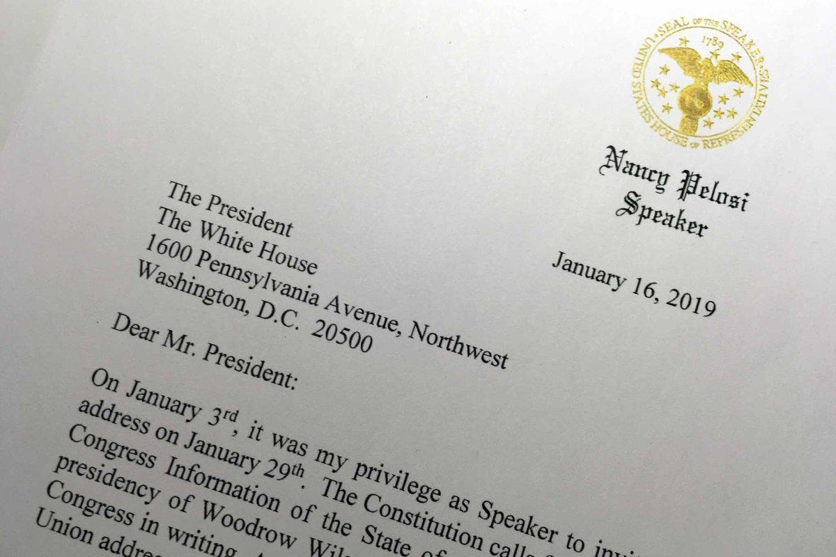 Pelosi asks Trump to delay State of Union speech https://t.co/r6jf7VMkYe