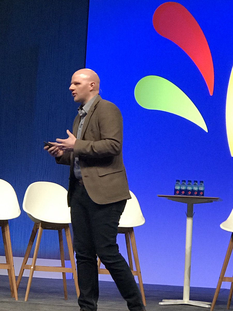 """""""Point solutions have run their course"""" Tyler Smith @whiskynty #Marketing technologist @Microsoft. Leading brands are moving from a system of integrations to an integrated system for customer experience. Who will be left behind? #sprinklrlife"""